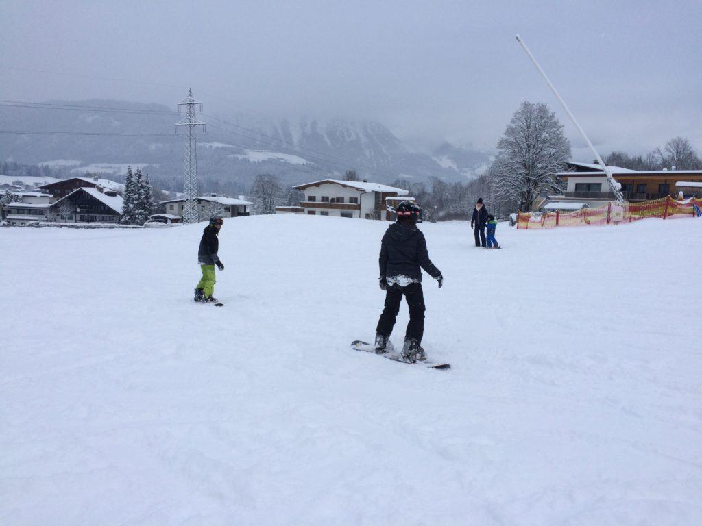 Snowboard Anfänger, Skianfänger Söll
